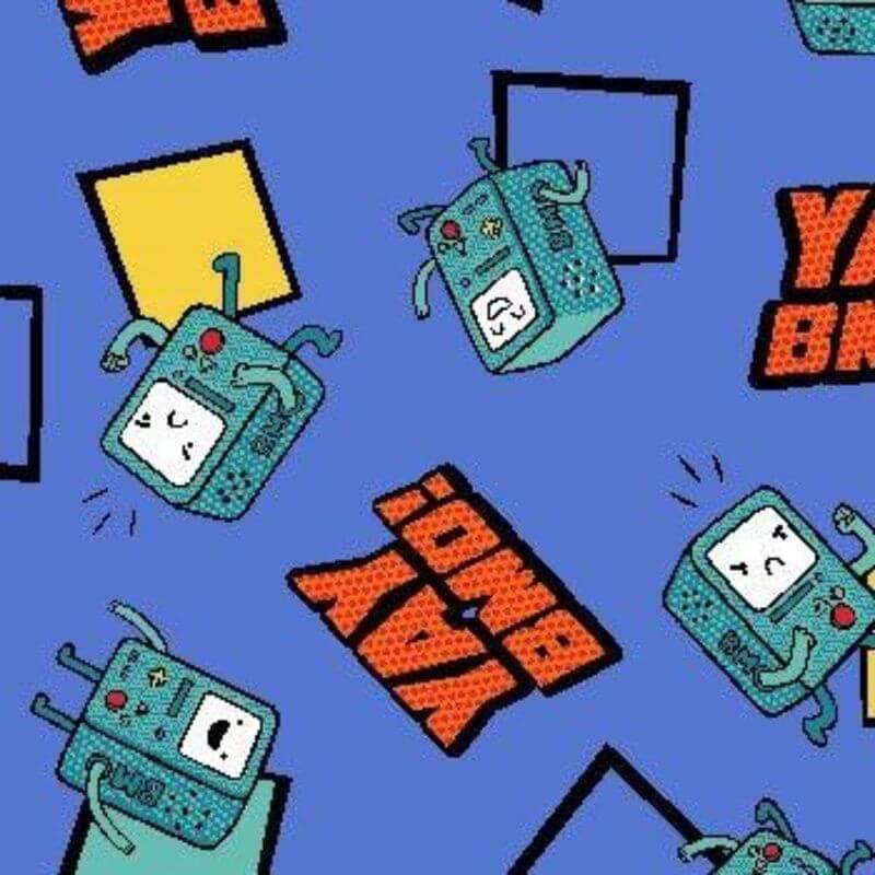 Tecido Tricoline Estampa Hero - Cartoon Network - Fundo Azul - 50 cm x 1,50 cm