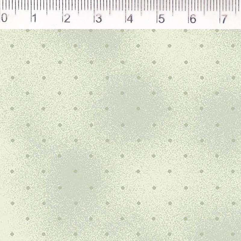 Tecido Tricoline Estampa Poa Verde Claro - Fundo Verde - Coleção Millyta - La Vie En Rose - Preço de 50 cm X 1,50 cm