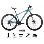 BICICLETA 29 AUDAX HAVOK SX SHIMANO 3X7 VEL. VERDE AZULADO (2021)