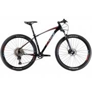 BICICLETA 29 OGGI BIG WHEEL 7.2 DEORE M5100 1X11V. PTO/VERMELHO/AZUL (2021)