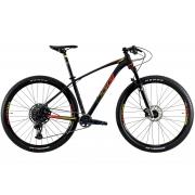 BICICLETA 29 OGGI BIG WHEEL 7.6 SRAM GX 1X12V. PTO/VM/AMARELO (2021)