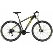 BICICLETA 29 OGGI HACKER SPORT 21 VEL. PTO/AMAR/DOURADO (2021)