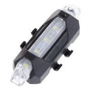 PISCA LED TRASEIRO RECARREGAVEL USB BRANCO