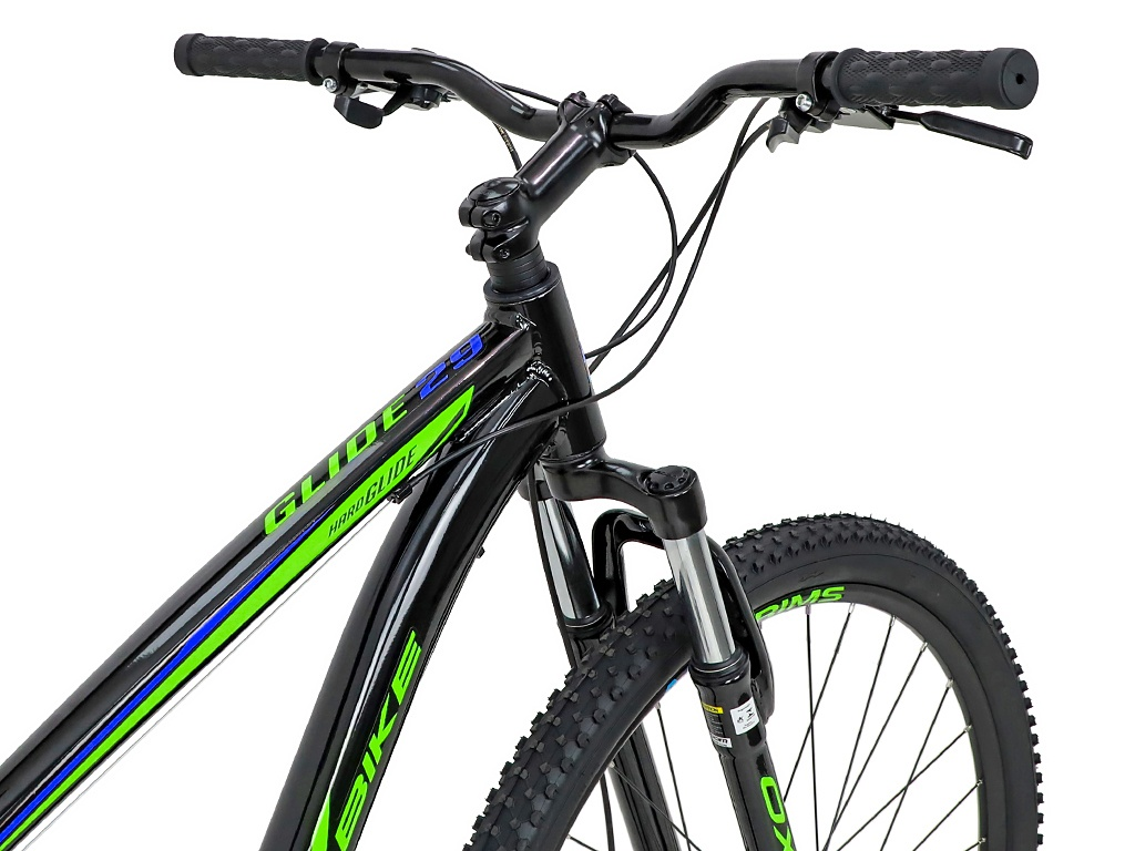 BICICLETA 29 OX GLIDE SHIMANO 3X7 V. PTO/VERDE/AZUL