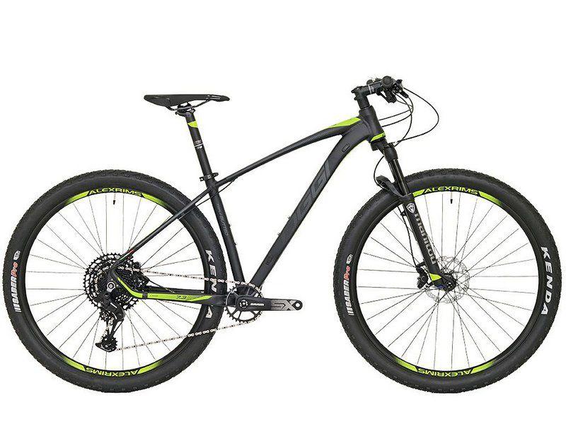 BICICLETA 29 OGGI BIG WHEEL 7.3 SRAM SX 1X12 V. PTO\GRAF\VERDE (2020)