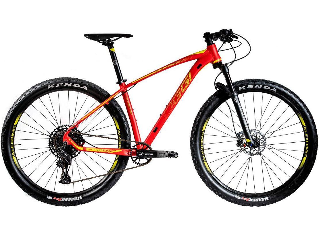 BICICLETA 29 OGGI BIG WHEEL 7.3 SRAM SX 1X12 V. VERM\AMARELO