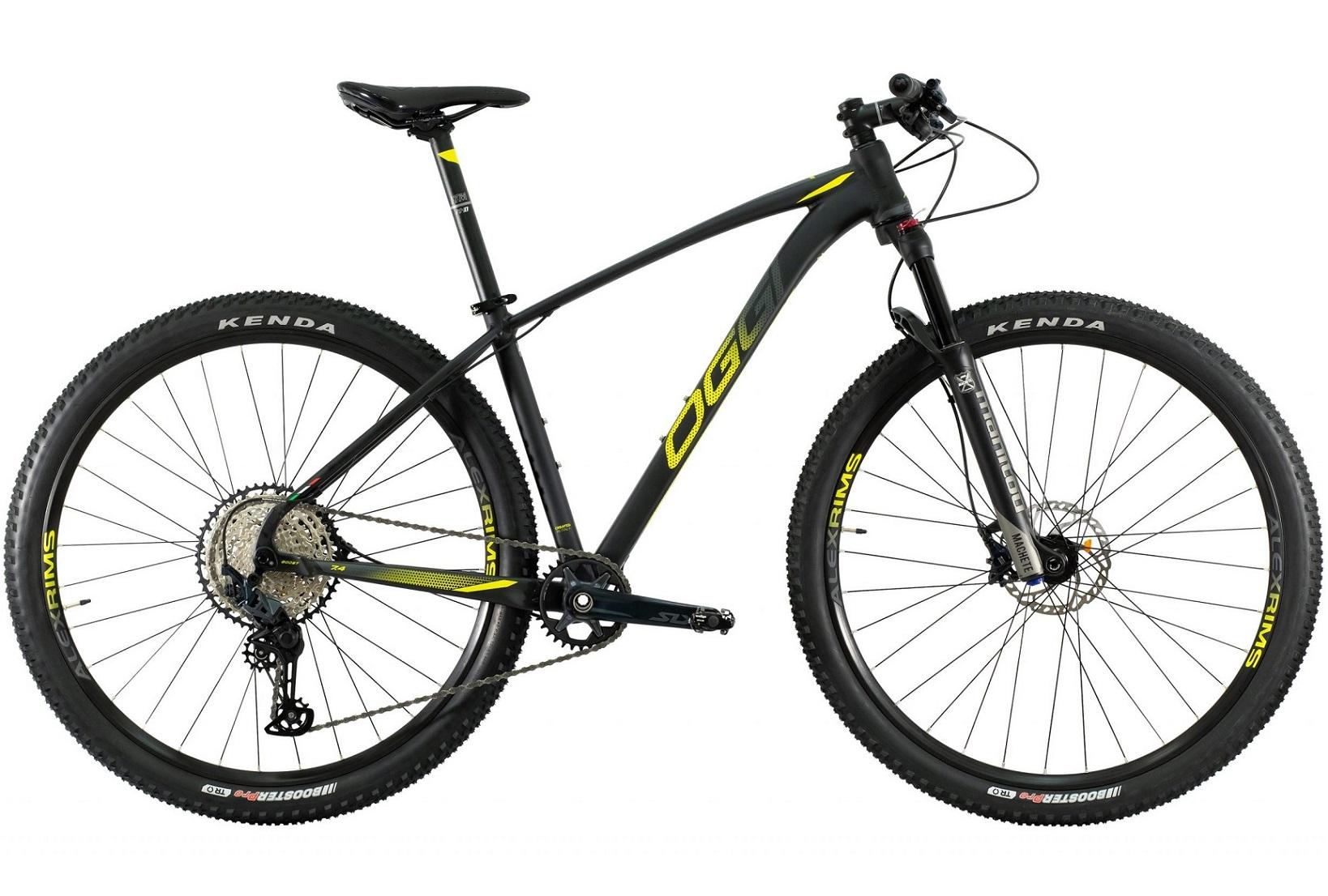BICICLETA 29 OGGI BIG WHEEL 7.4 SLX M7100 1X12V. PTO/AMARELO/GRF (2021)