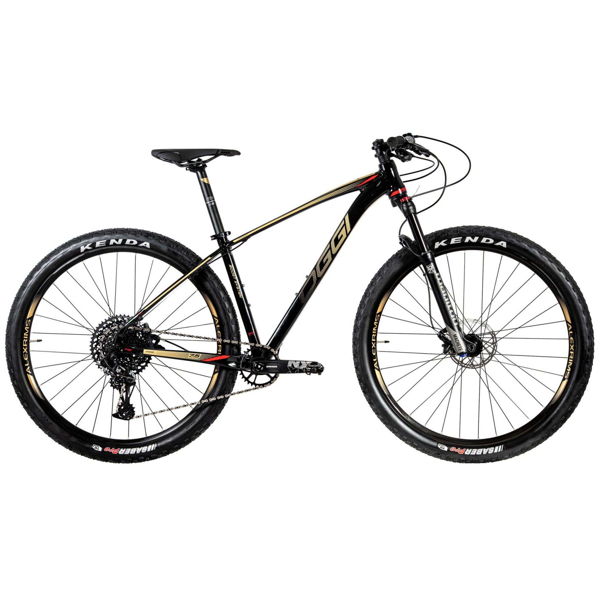 BICICLETA 29 OGGI BIG WHEEL 7.5 SRAM NX EAGLE 1X12V. PTO\VM\DOURADO