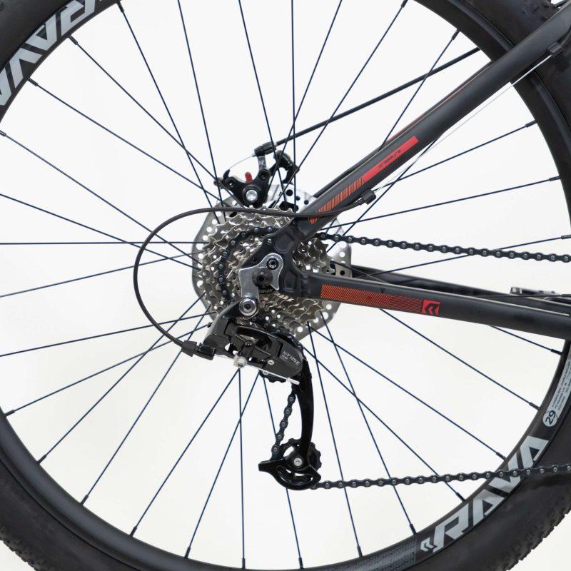 BICICLETA 29 RAVA PRESSURE 24 VEL. PTO/VERMELHO (2021)