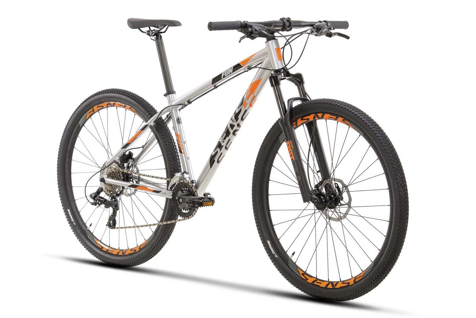 BICICLETA 29 SENSE FUN COMP 2X8 VEL ALUM/LARANJA (2021)