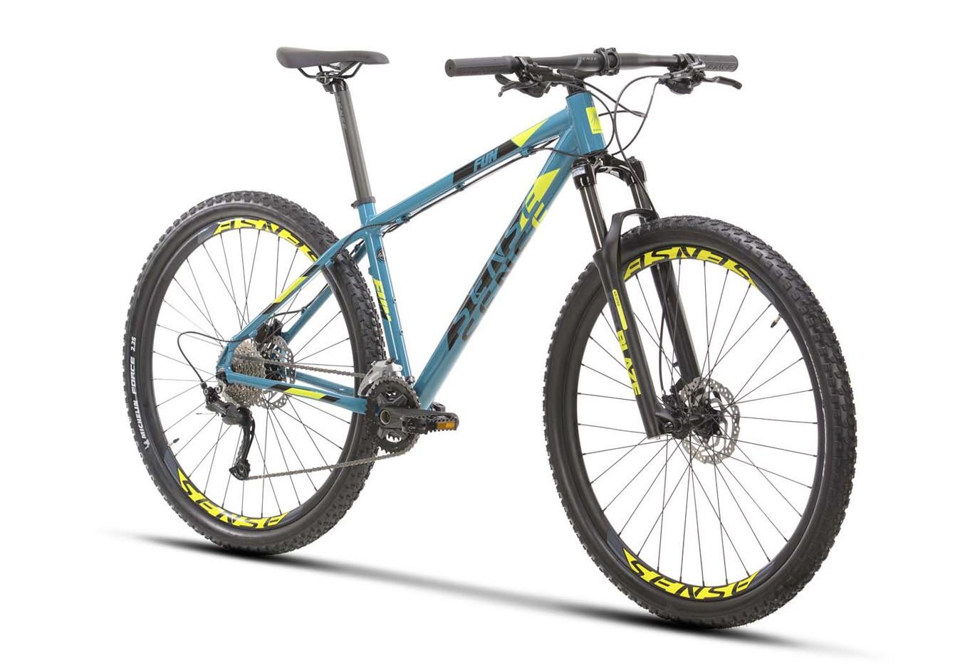 BICICLETA 29 SENSE FUN EVO SHIMANO 2X9 VEL ACQUA/AMARELO (2021)