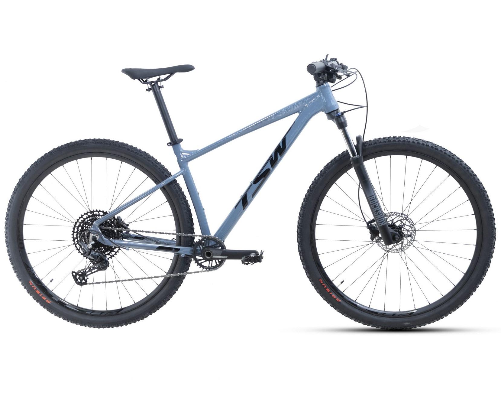 BICICLETA 29 TSW HURRY DEORE/X-TIME 1X12 VEL CINZA/AZUL(2021)