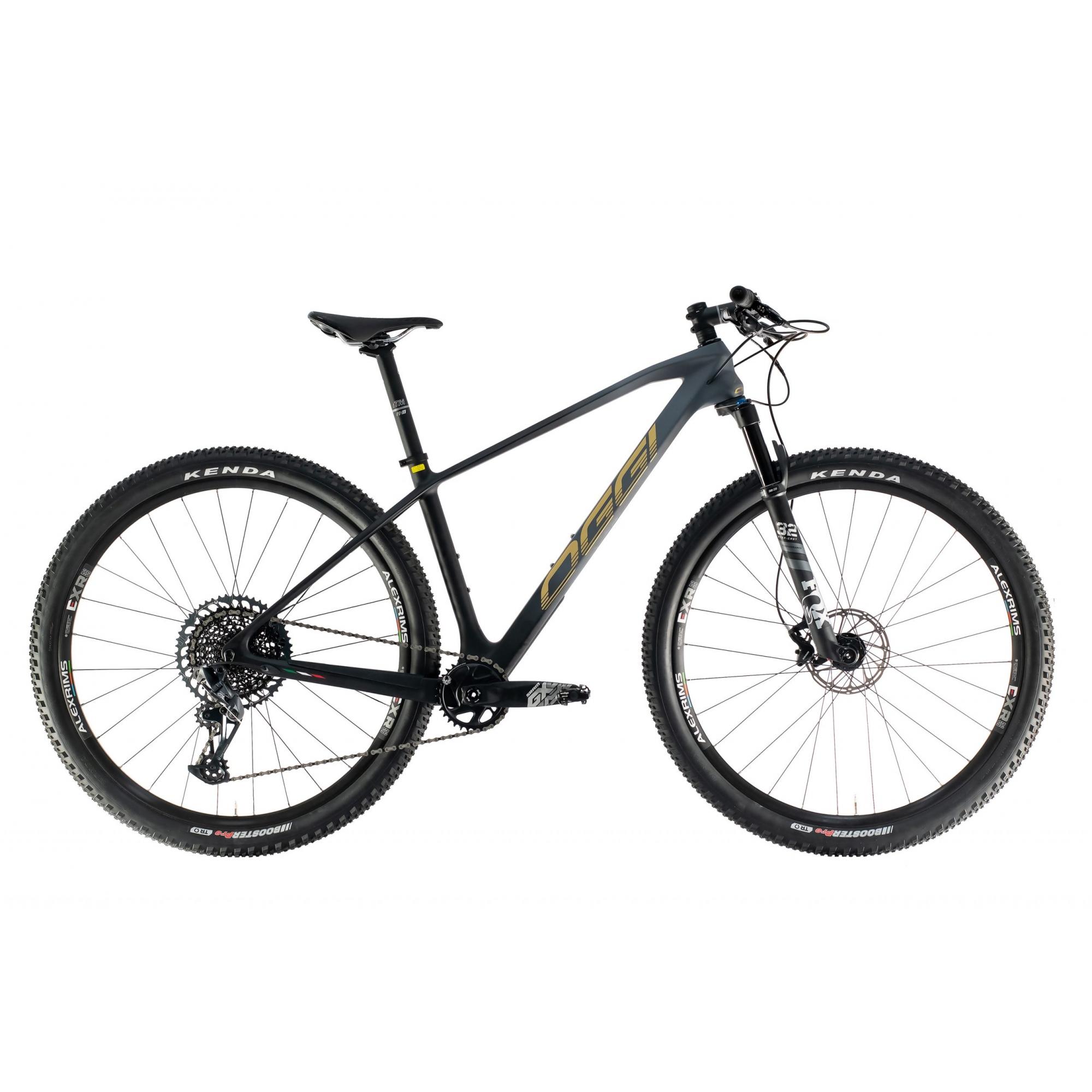 BICICLETA OGGI CARBON AGILE PRO GX 1X12 VEL. GRAF/PTO/DOURADO (2021)