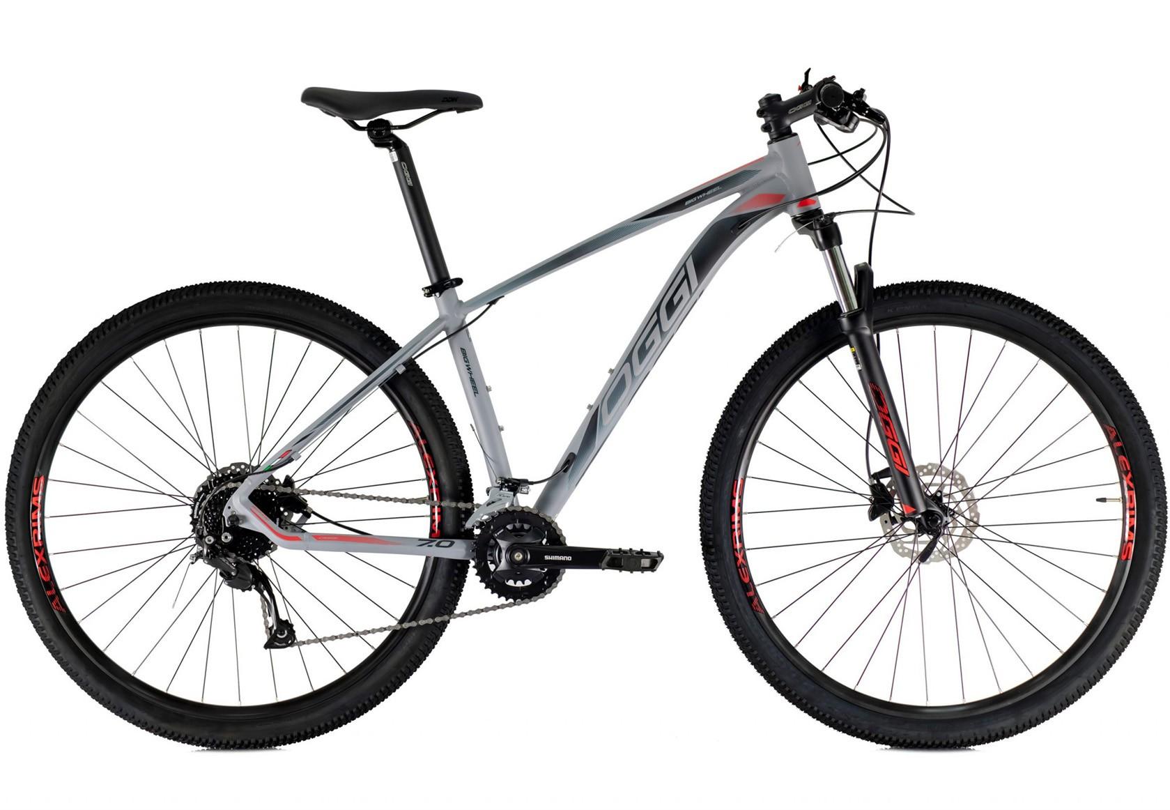 BICICLETA 29 OGGI BIG WHEEL 7.0 ALIVIO 2X9 VEL. GRAF/PTO/VERMELHO  (2021)