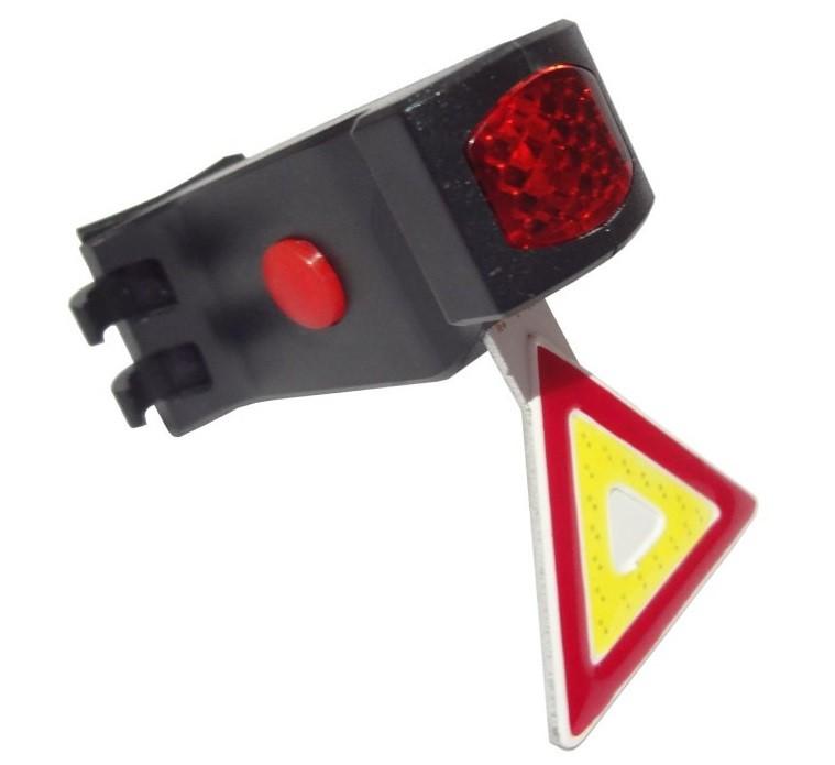 PISCA LED TRASEIRO RECARREGAVEL USB TRIANGULO