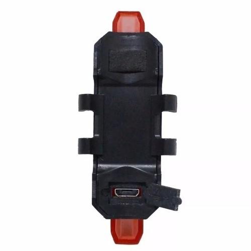 PISCA LED TRASEIRO RECARREGAVEL USB VERMELHO
