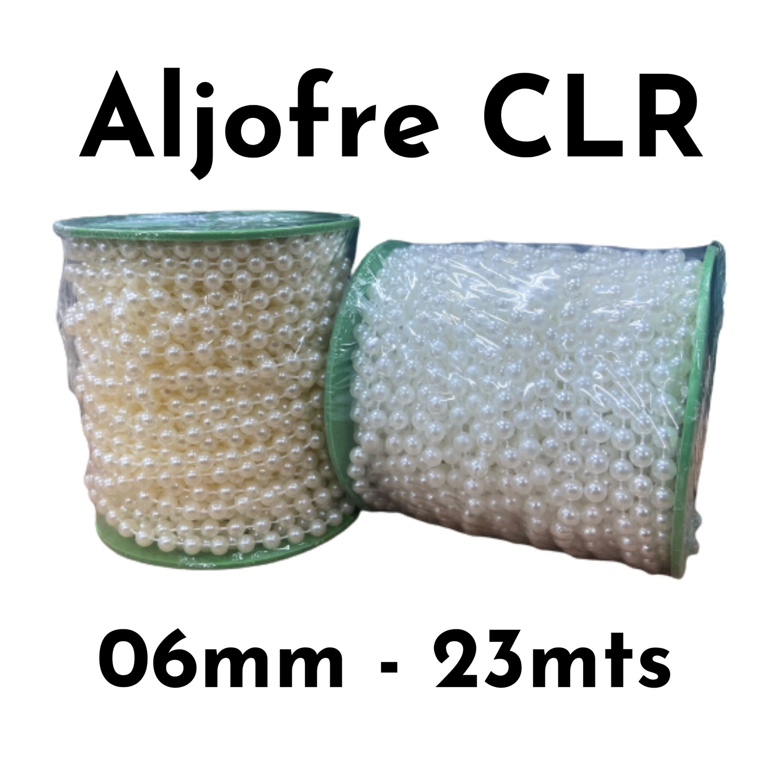 Aljofre Colore 06mm - 23 metros