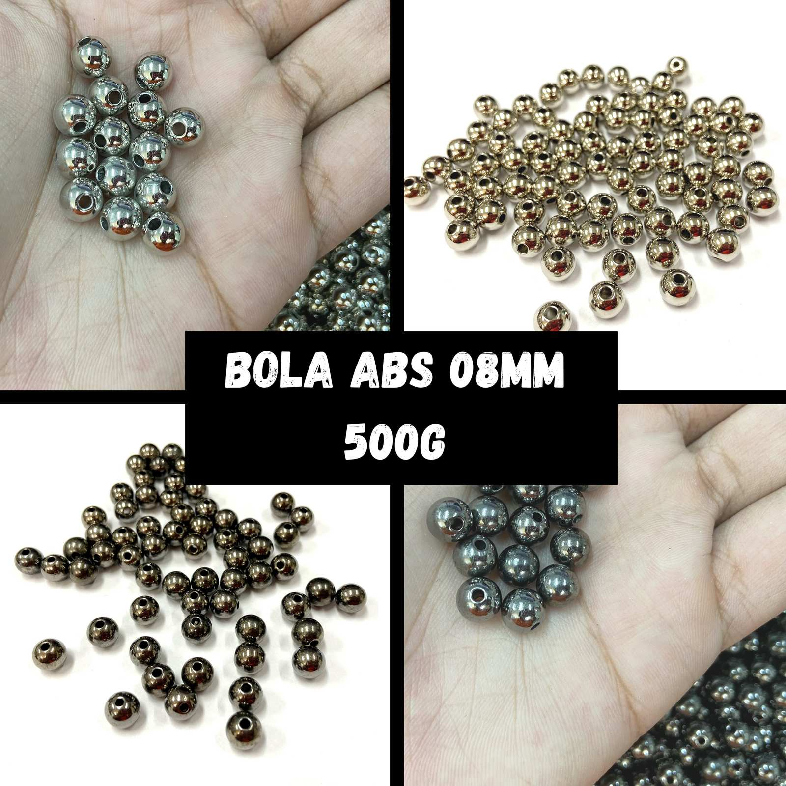 Bola ABS Metalizada 08mm - 500g