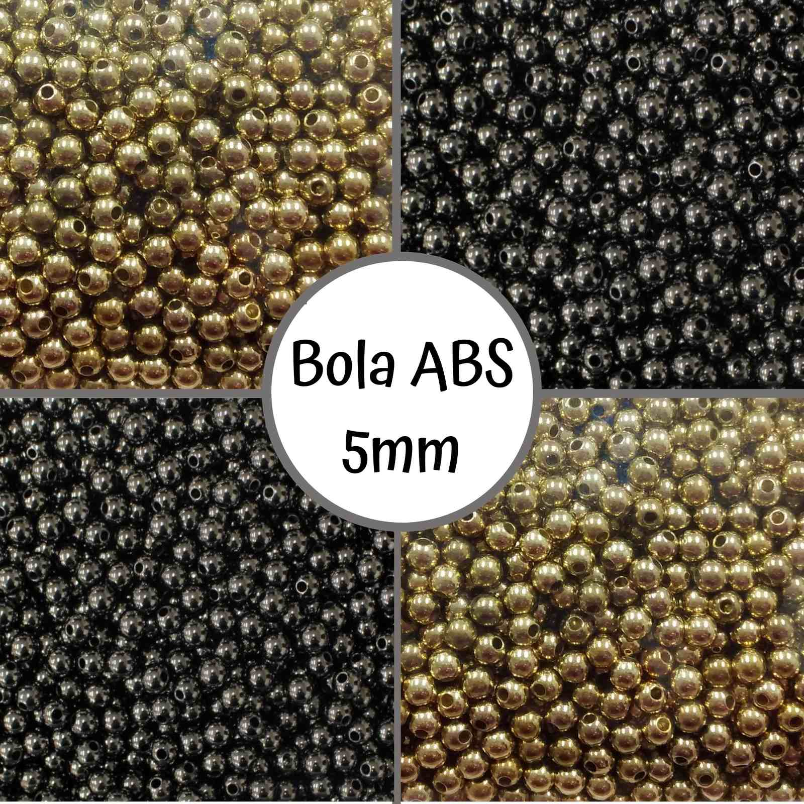 Bola ABS Metalizada 5mm - 500g