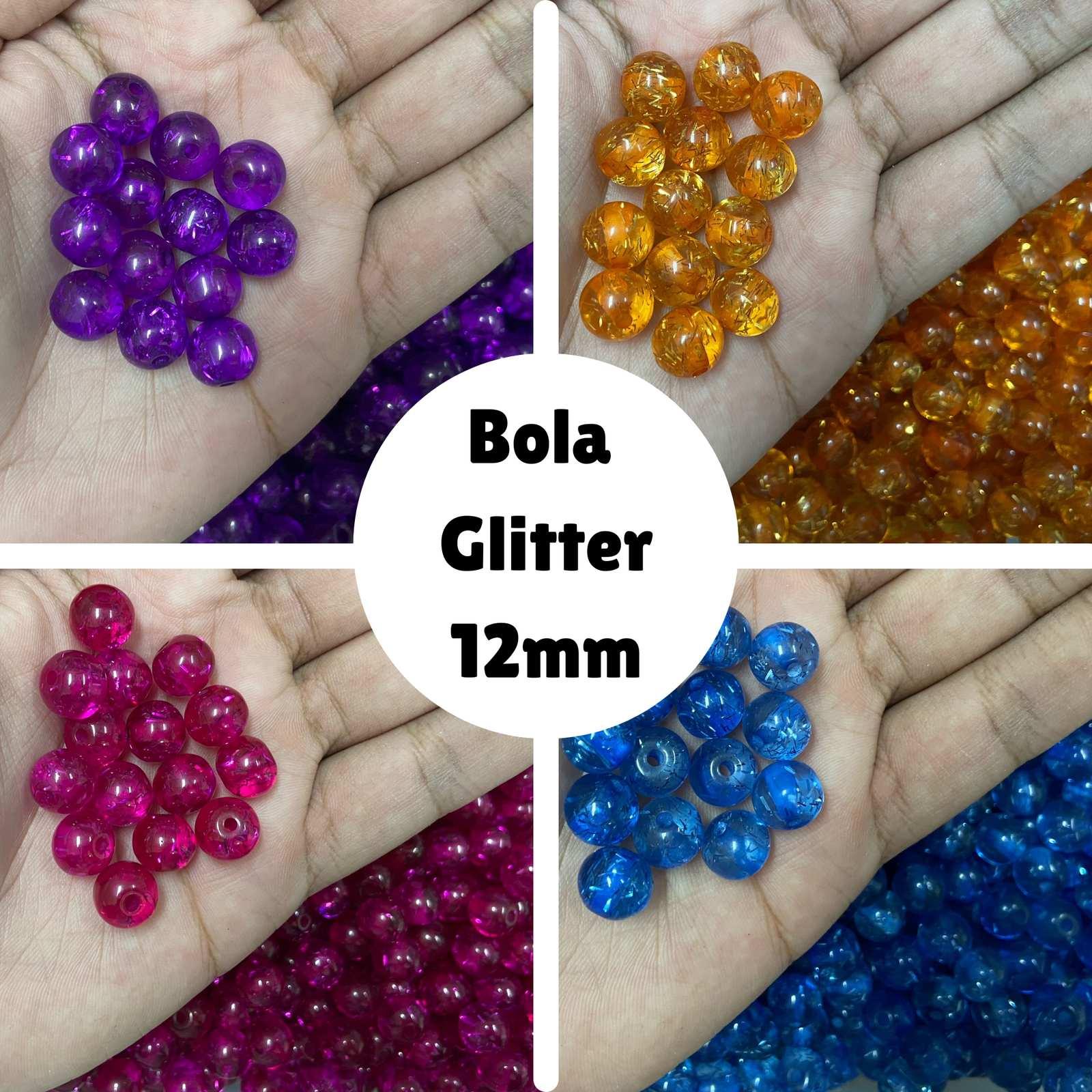 Bola Glitter 12mm - 500g