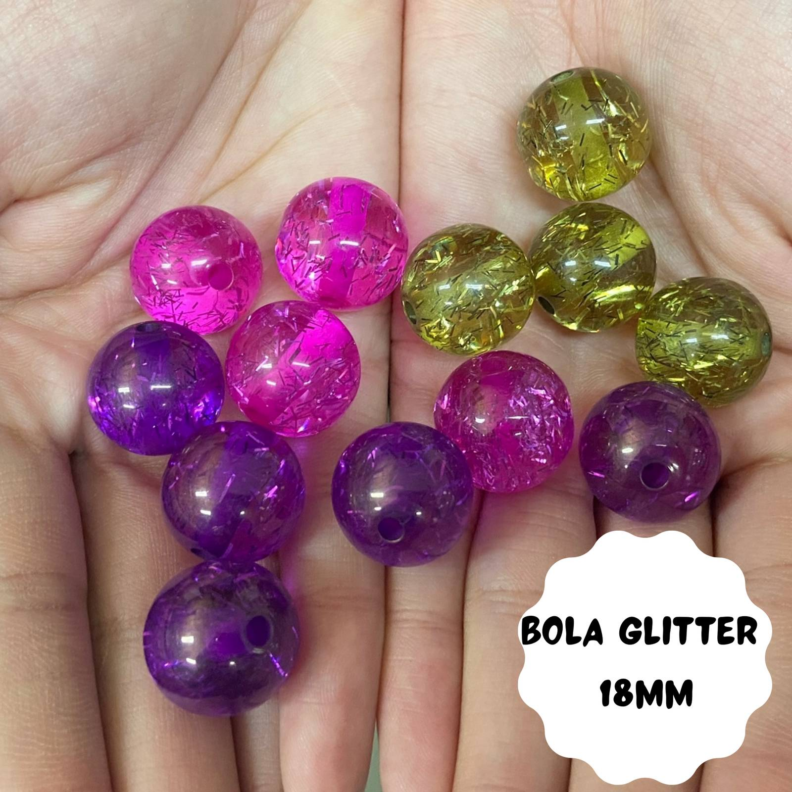 Bola Glitter 18mm - 500g