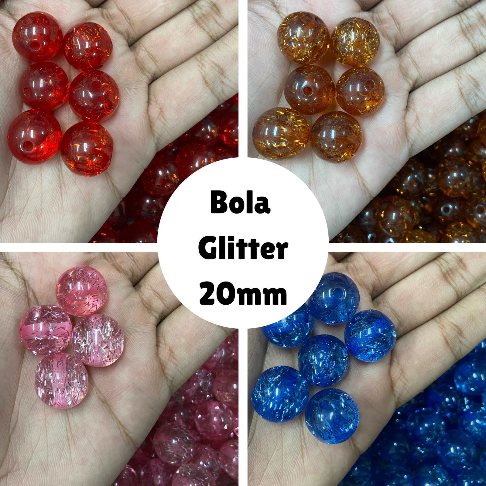 Bola Glitter 20mm - 500g