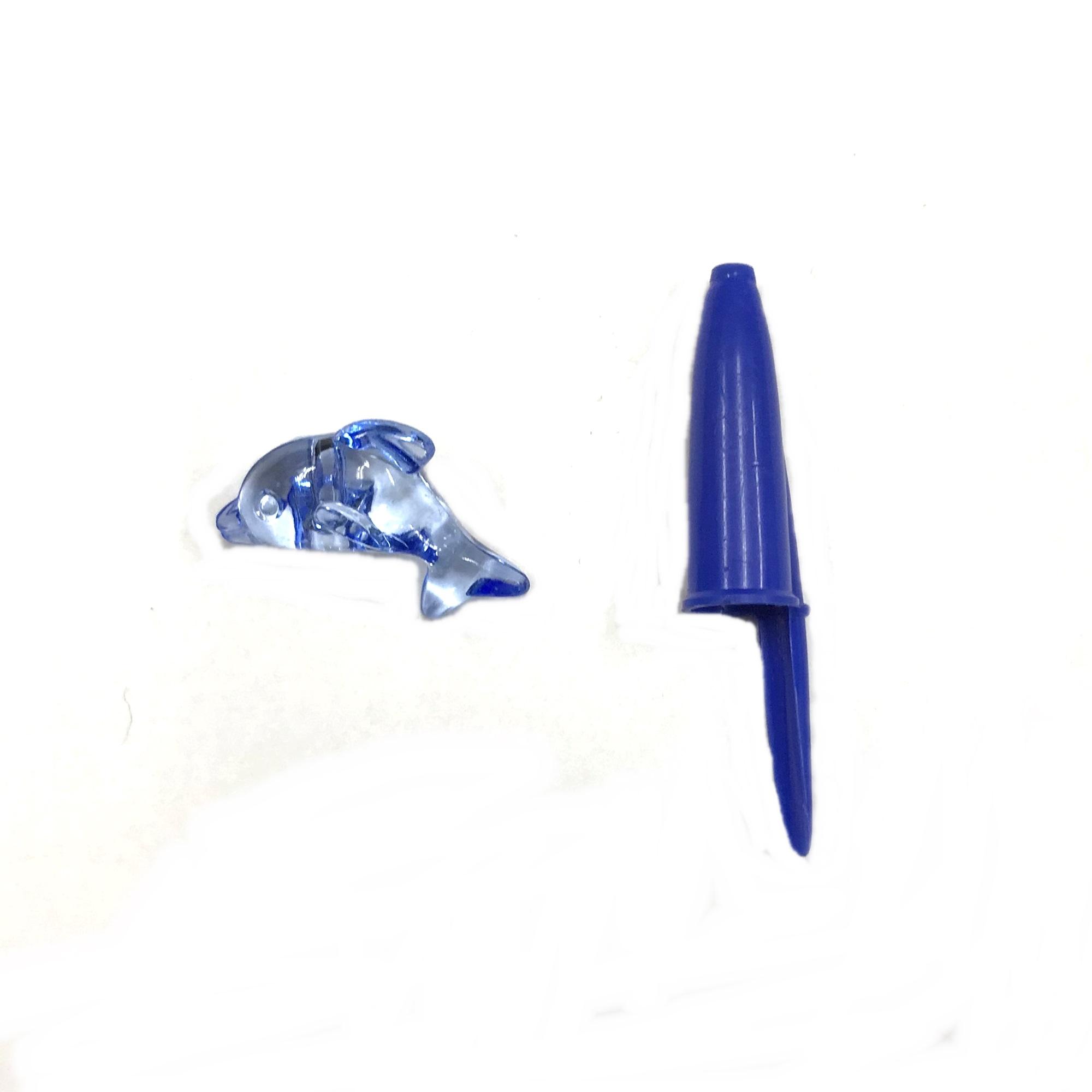 Botão Golfinho Acrilico 30mm C/500G