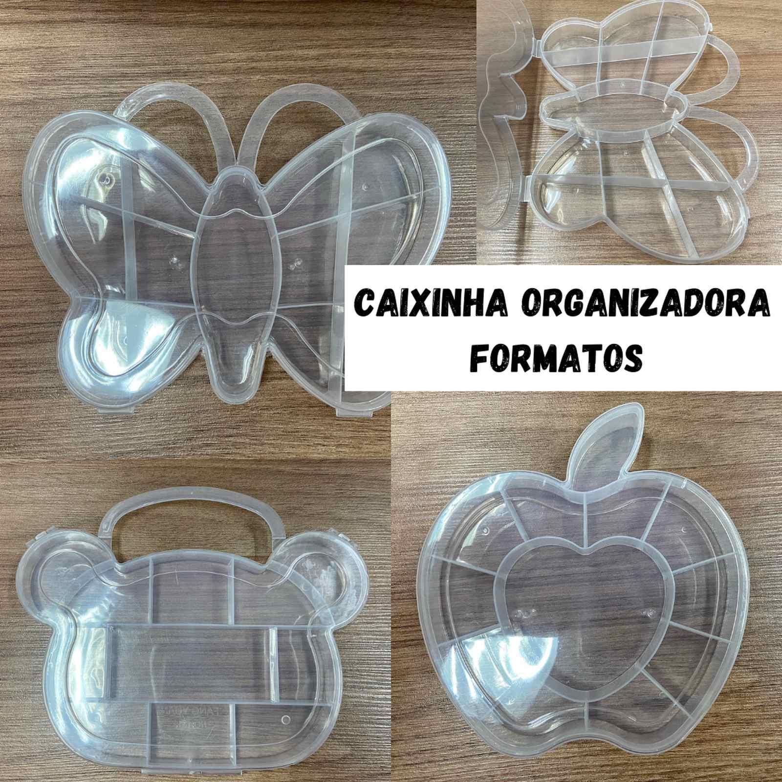 Caixa Plástica Organizadora Formatos - 1 unidade