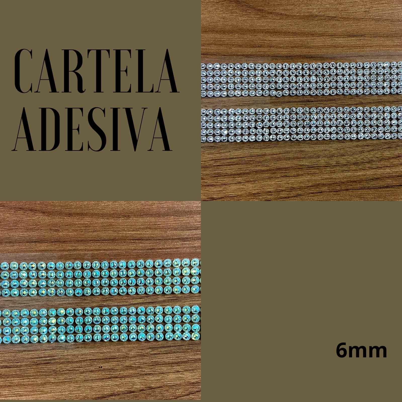 Cartela Adesiva Brilhante 6mm c/368Unidades