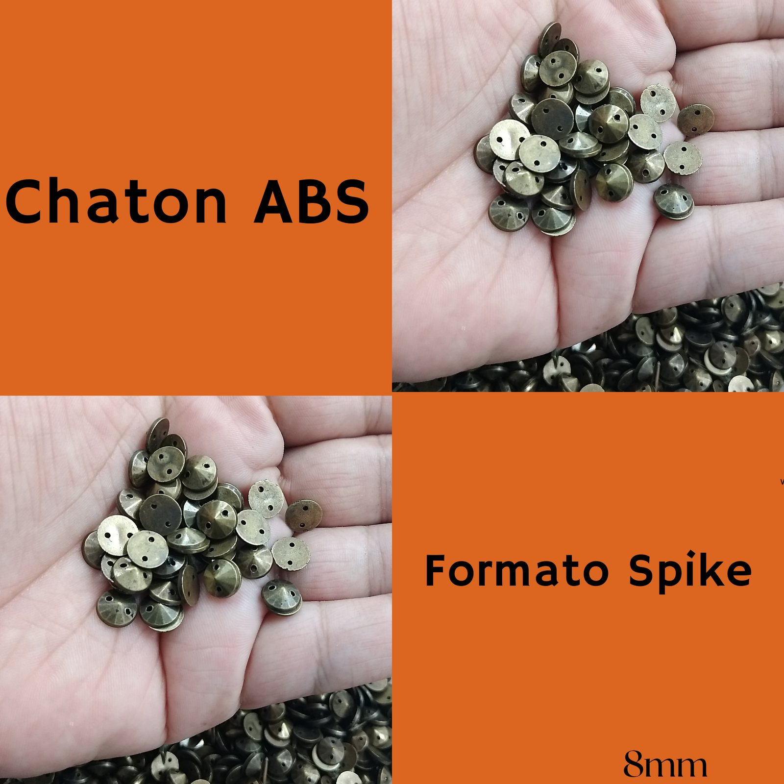 Chaton ABS Formato Spike 8mm c/250g