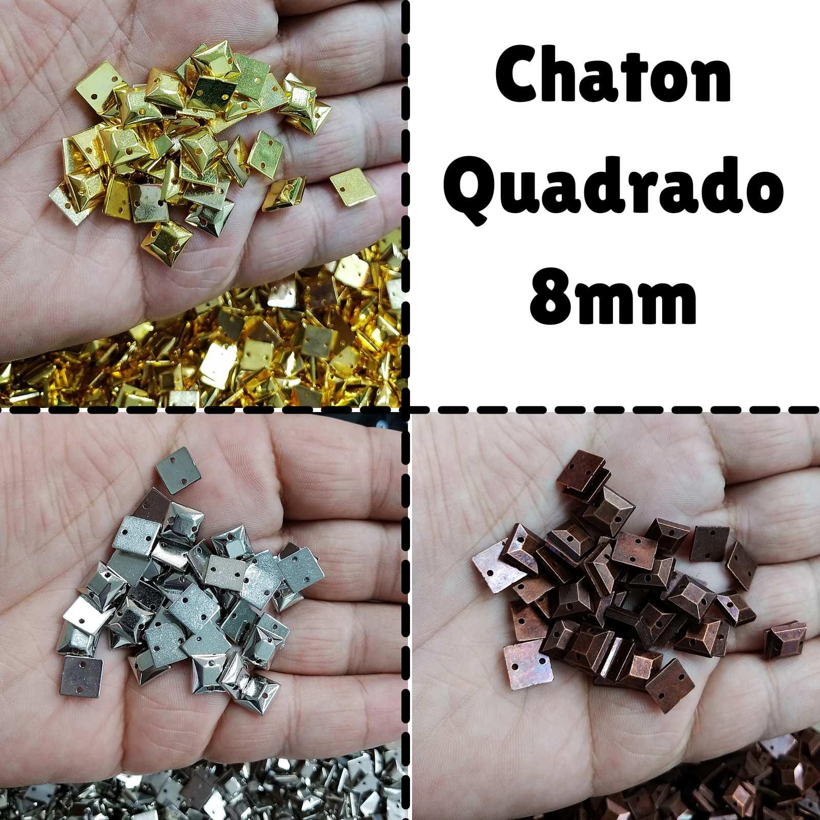 Chaton ABS  Quadrado 08mm c/250g