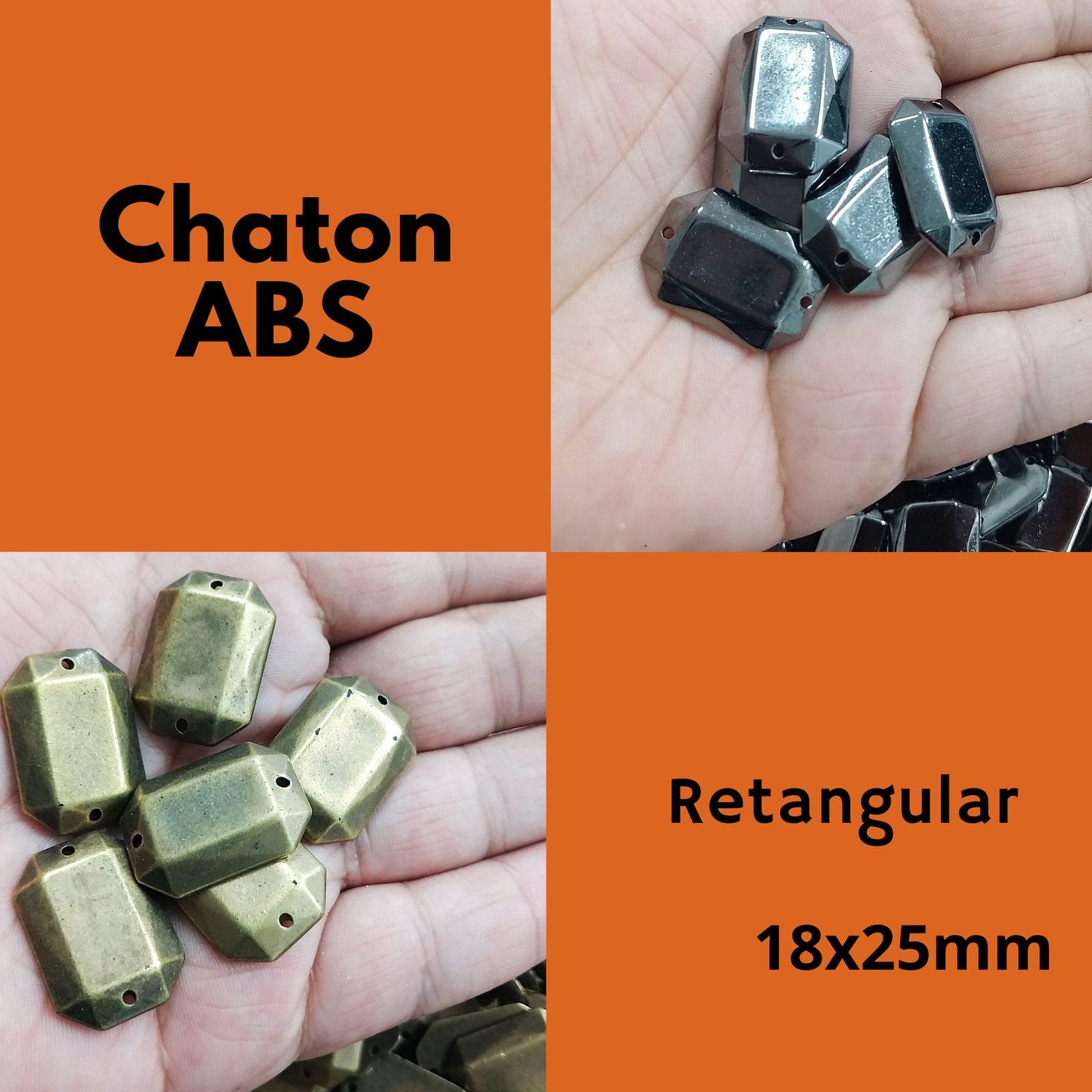 Chaton ABS  Retangular 18x25mm C/250g