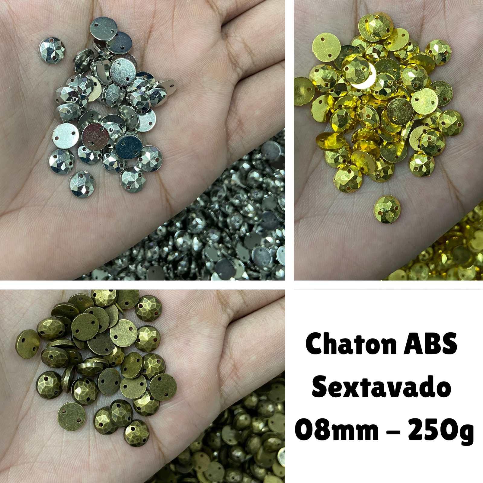 Chaton ABS  Sextavado 8mm C/250g