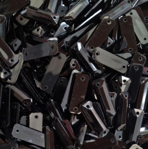 Chaton Retangular  7X19mm Pacote com 1.000 unidades-Leitoso