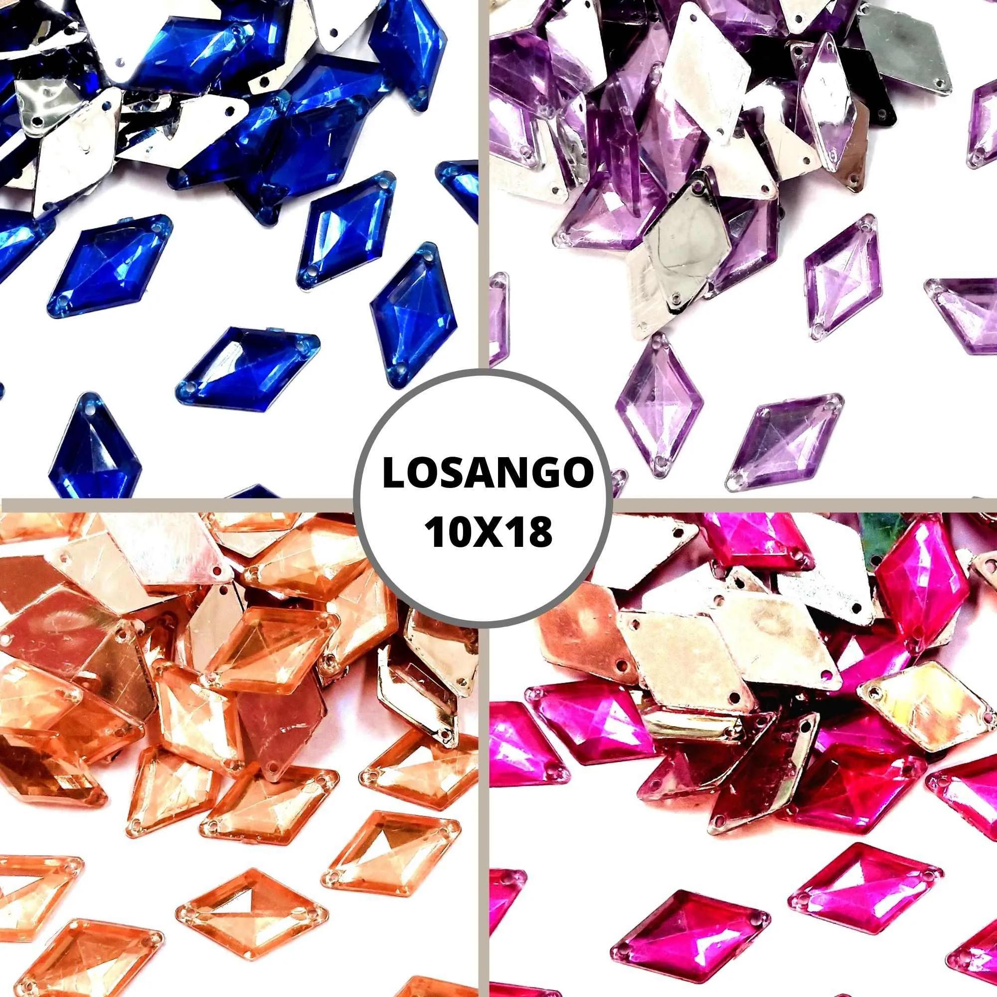 Chaton Losango 10x18 - Pacote com 200 unidades