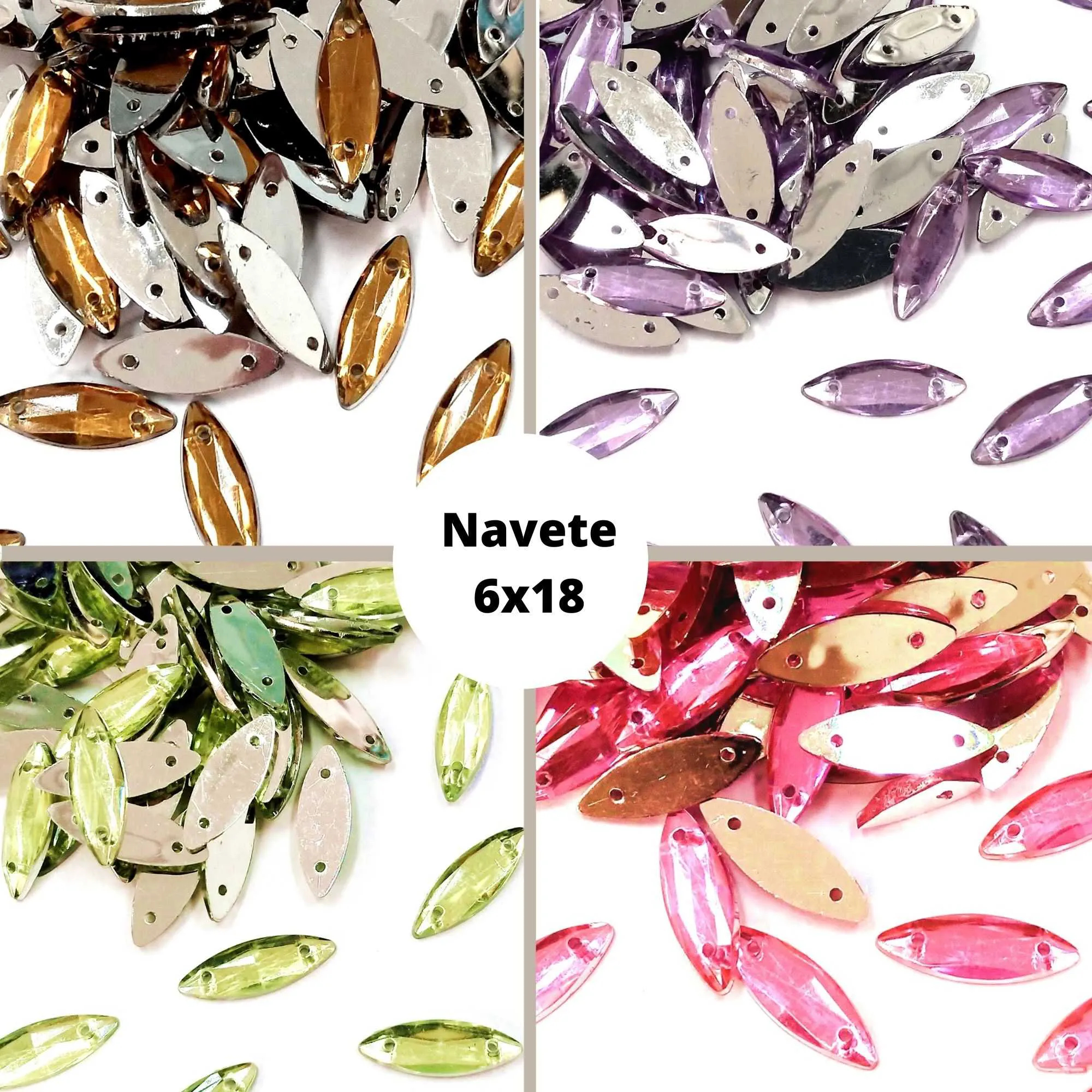 Chaton Navete 6x18 - Pacote com 200 unidades
