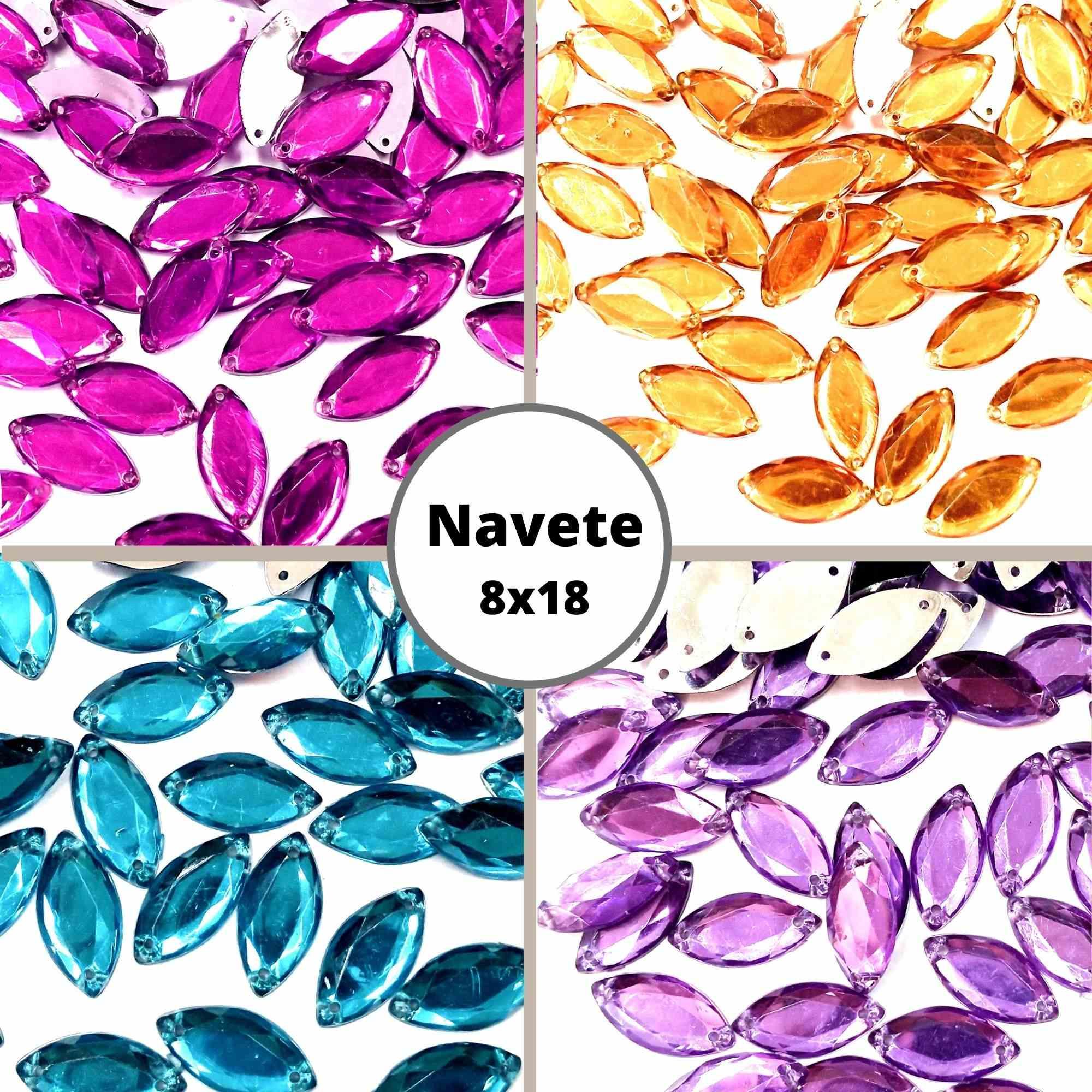 Chaton Navete 8x18 - Pacote com 200 unidades