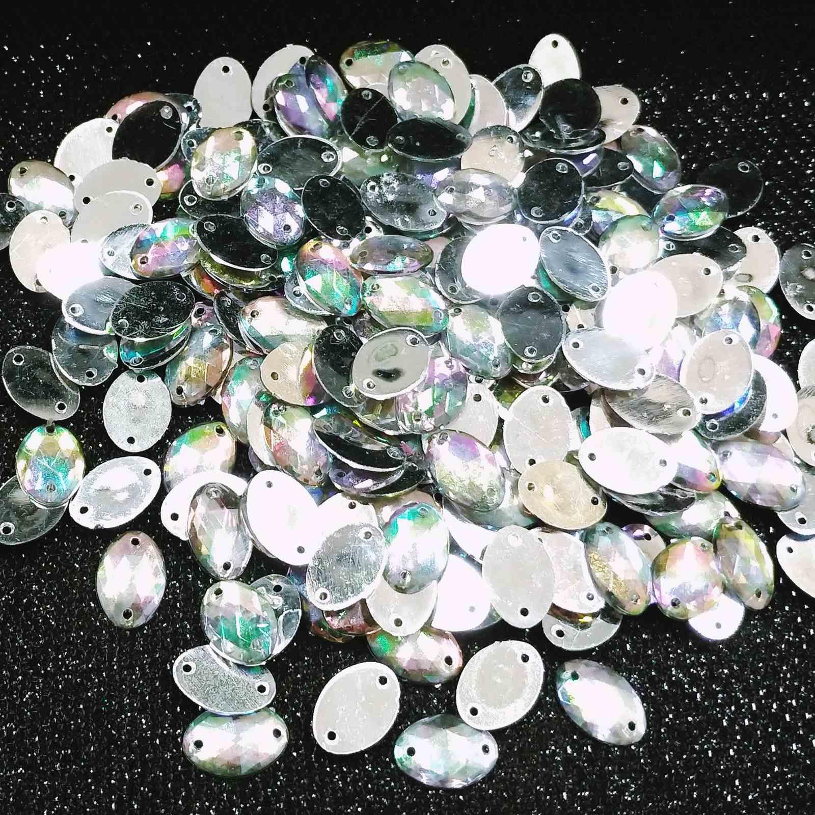 Chaton Oval  Acrilico - 10x14 - Pacote com 1.000 unidades