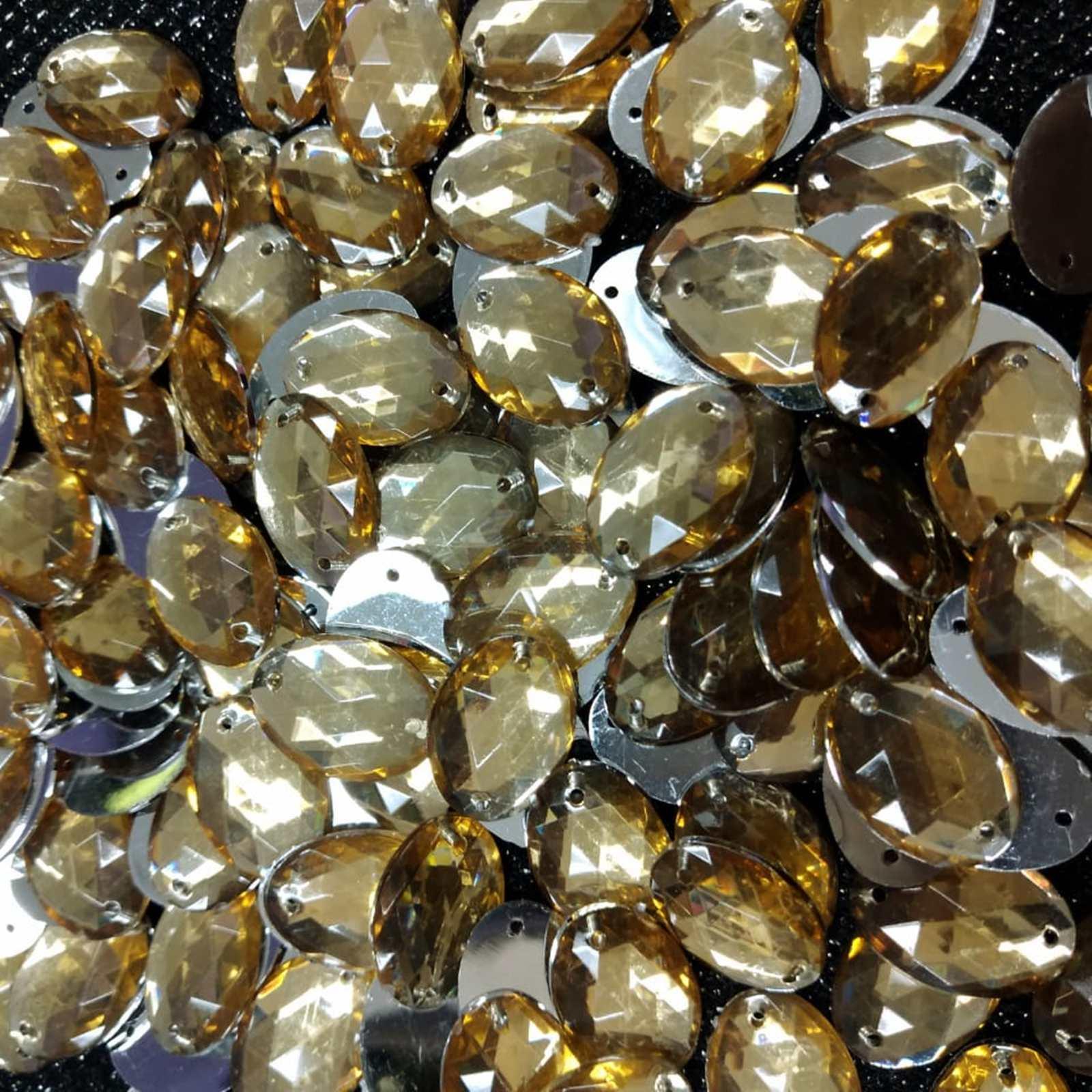 Chaton Oval  Acrilico - 13x18 - Pacote com  500 unidades