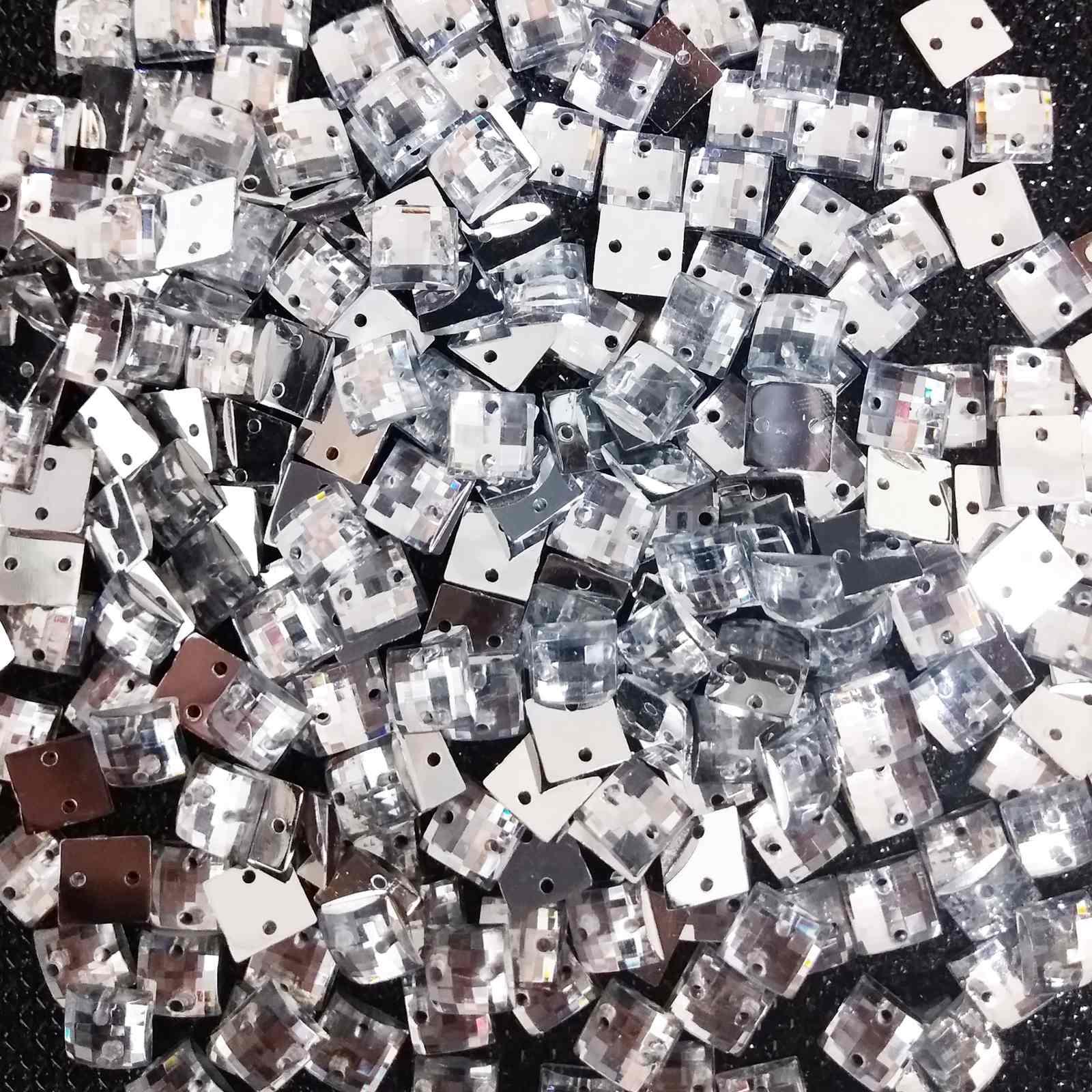 Chaton Quadrado Acrilico - 0,8x0,8 - Pacote com 2.000 unidades