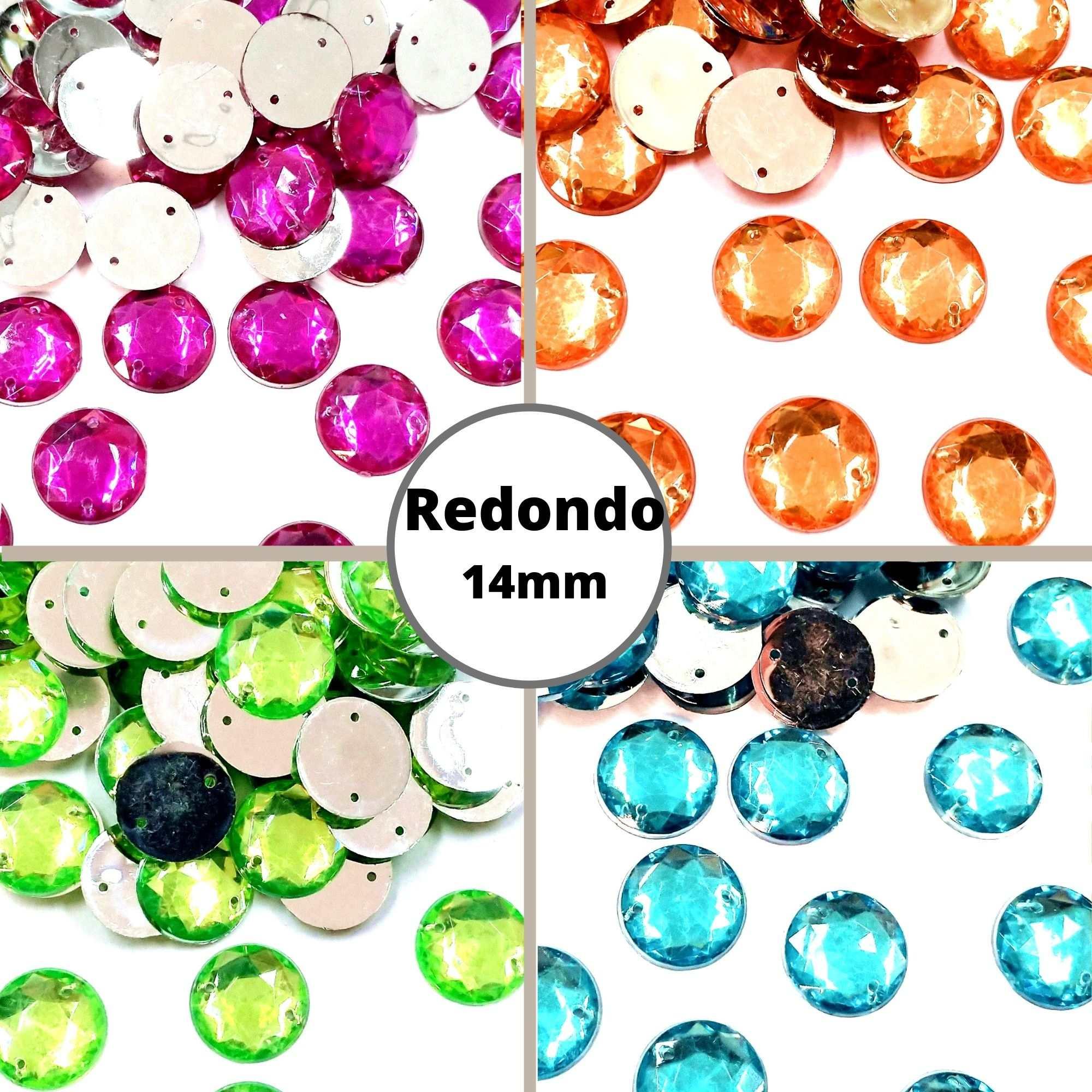 Chaton Redondo 14mm - Pacote com 200 unidades