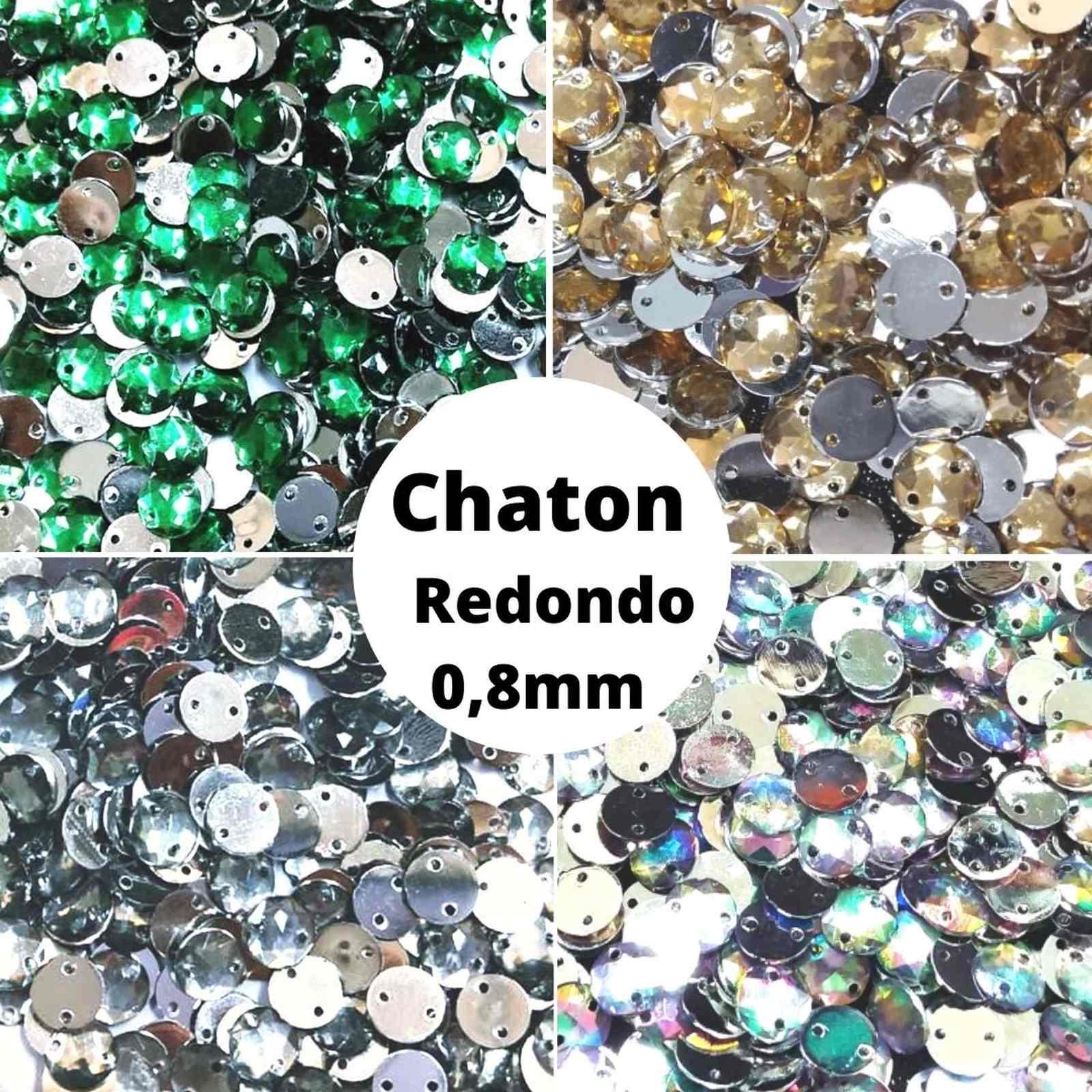 Chaton Redondo Acrilico - 08mm - Pacote com 2.000 unidades