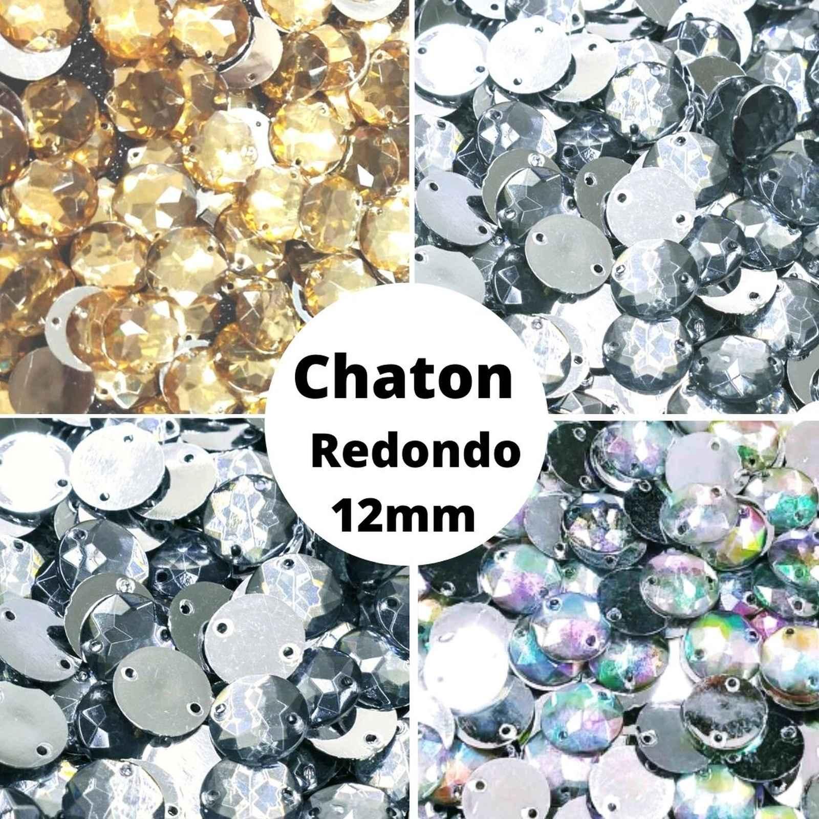 Chaton Redondo Acrilico - 12,0mm - Pacote com 1.000 unidades