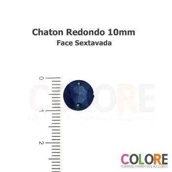 Chaton Redondo Sextavado 10mm - Metalizado