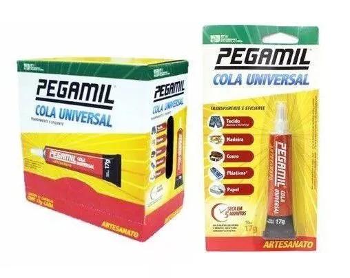 Cola Universal Pegamil 17g - Caixa com 12 unidades