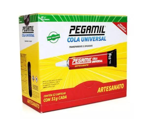 Cola Universal Pegamil 51g - Caixa com 12 unidades