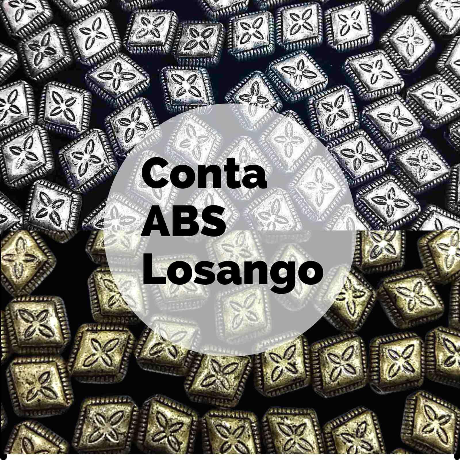 Conta ABS Passante Losango 10x12mm C/30 g