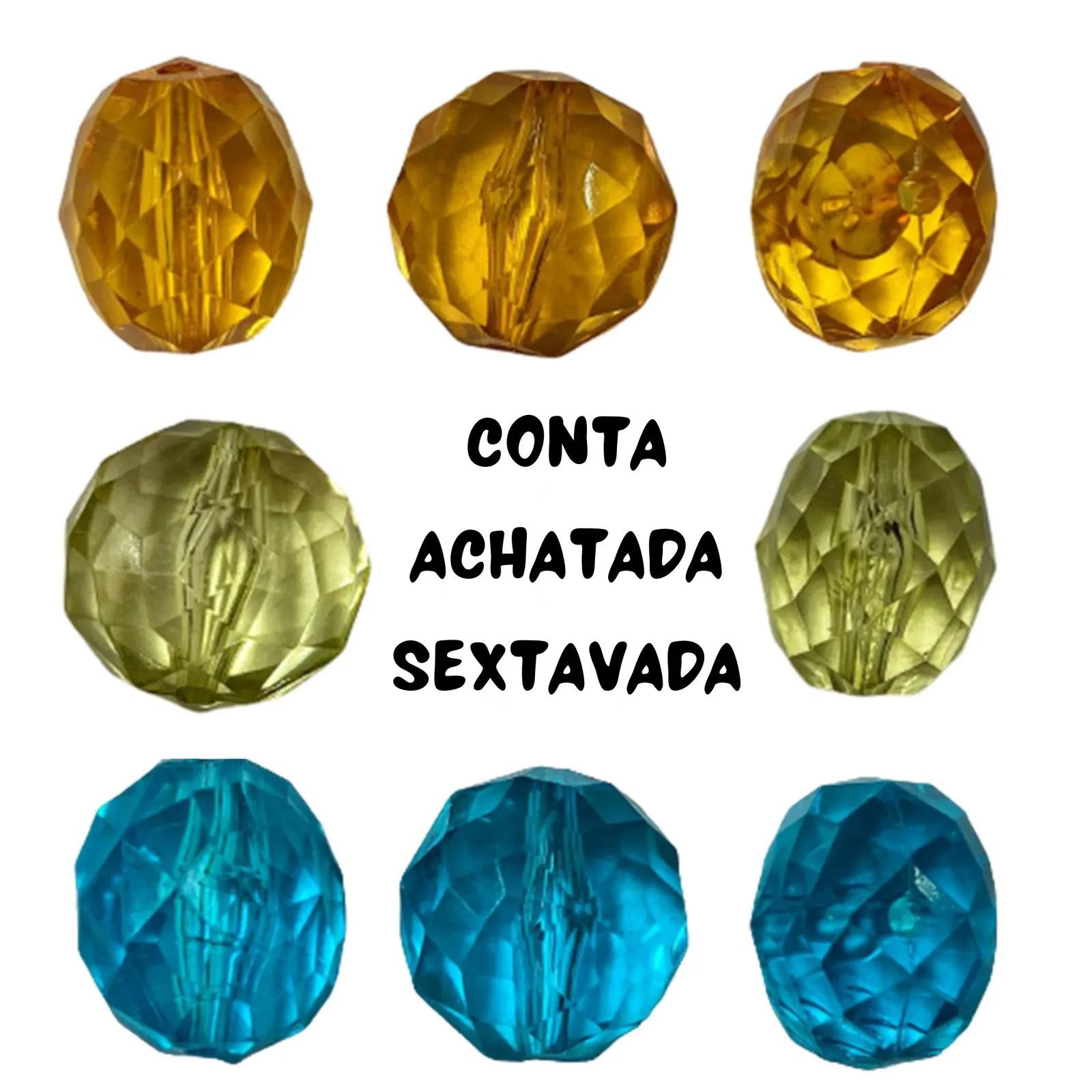 Conta Achatada Sextavada 13x11mm - 250g