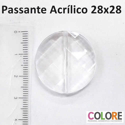 Conta Acrílica Passante KC1005 28x28mm C/500g