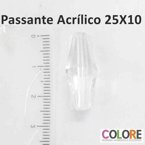 Conta Acrílica Passante KC1006 10x25mm C/500g